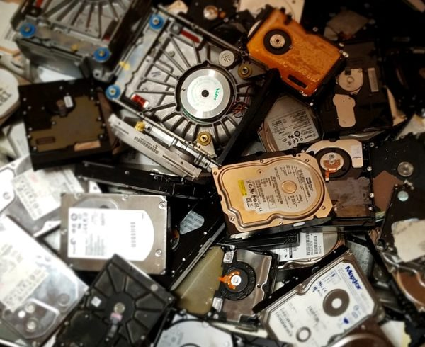 hard drive disposal bin