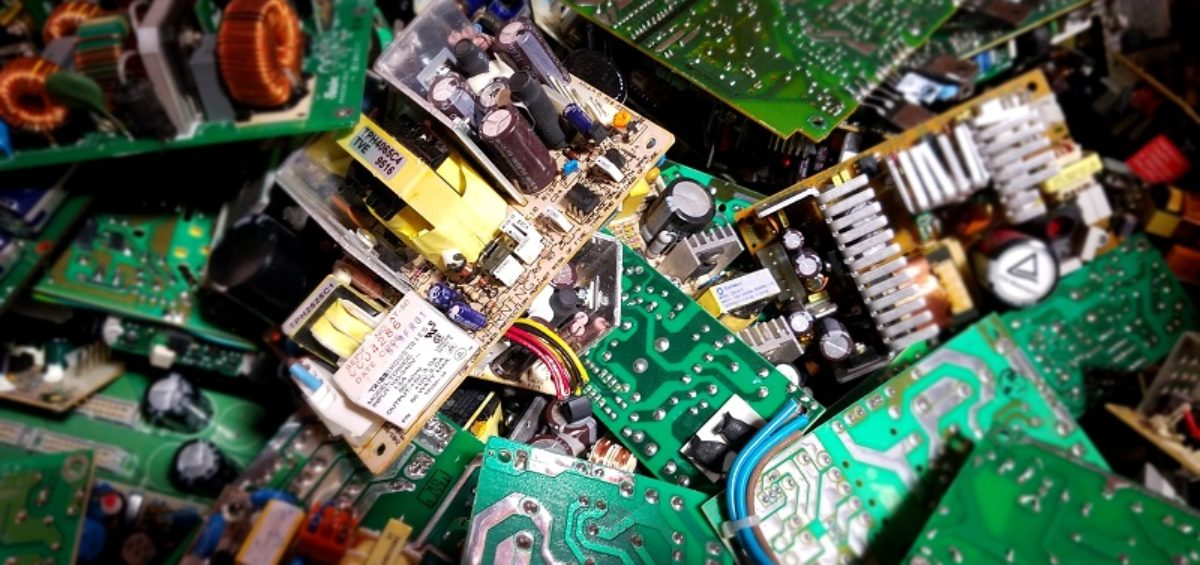 Image of Electronics being recycled